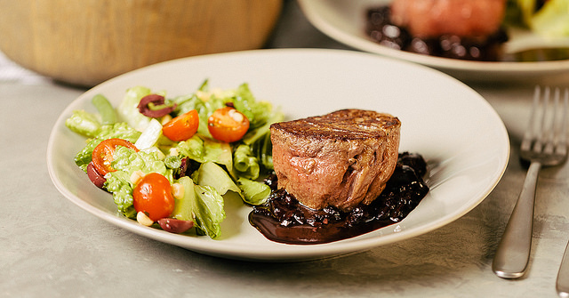 Filet Mignon and Cherry-Balsamic Reduction