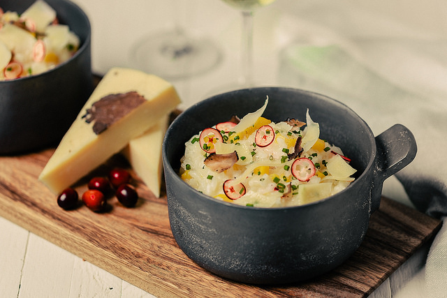 Fall Risotto with Beehive Truffle Cheese