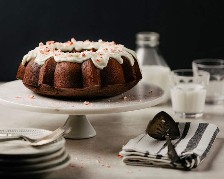 Peppermint-Chocolate Bundt Cake